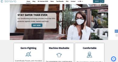 Sonoviaが新型コロナウイルス対応の新たなマスクを開発販売開始