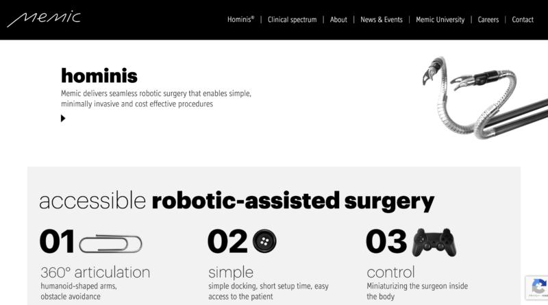 手術ロボットのMemicがSPACと10億ドルでの合併に合意